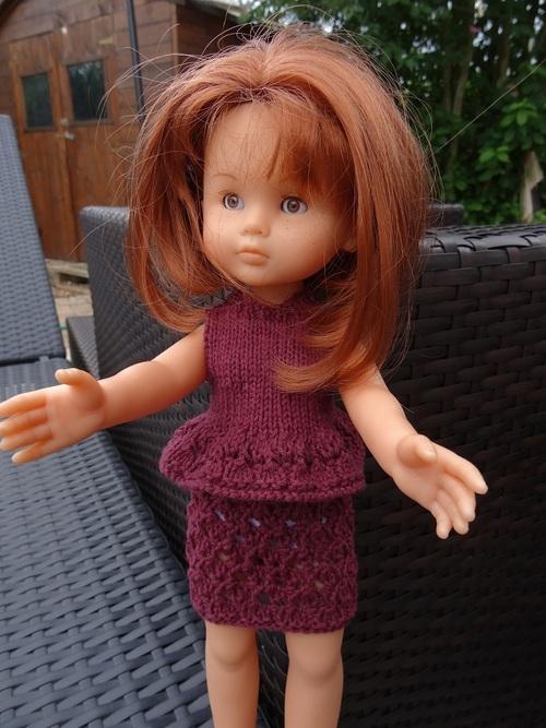 Fiche gratuite vêtements de poupées N° 199: jupe et haut