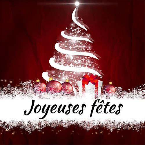 Fermeture Vacances Noël Joyeuses Fêtes