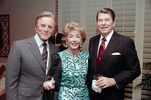 Kirk Douglas, Nancy & Ronald Reagan