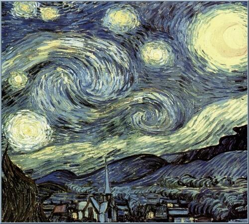 Remerciements . Tableau : La nuit étoilée  Vincent