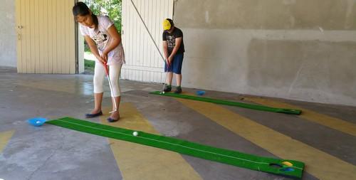 Golf et course d'orientation