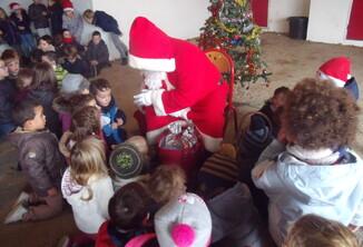 La visite du père-Noël