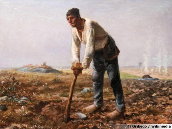 La bêche, de l'origine au moyen-âge