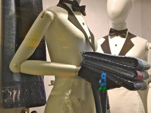 mannequin soubrette vitrine Galeries Lafayette 4