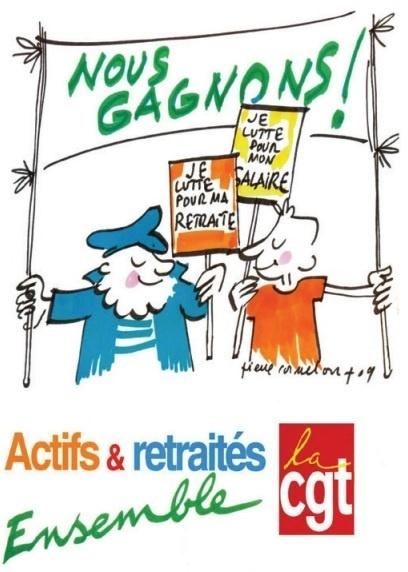 affiche de la CGT (extraite de VIE NOUVELLE)