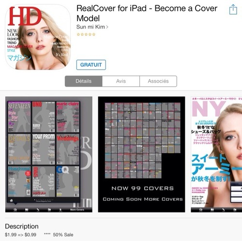 [appli] RealCover for iPad - Become a Cover Model