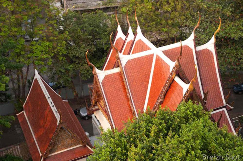 Montagne d'Or Bangkok - Toitures à pans au Wat Saket