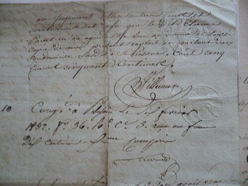 Succession Paret-Paquet 1830 suite