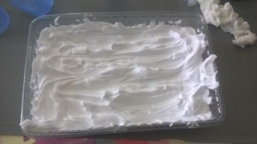 Papier marbré avec mousse à raser