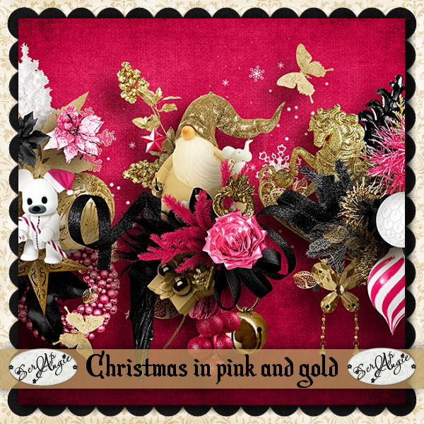 """""""Christmas in gold and pink"""" by Scrap'Angie"""