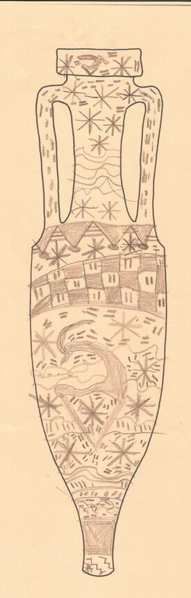 décoration d'amphores romaines.