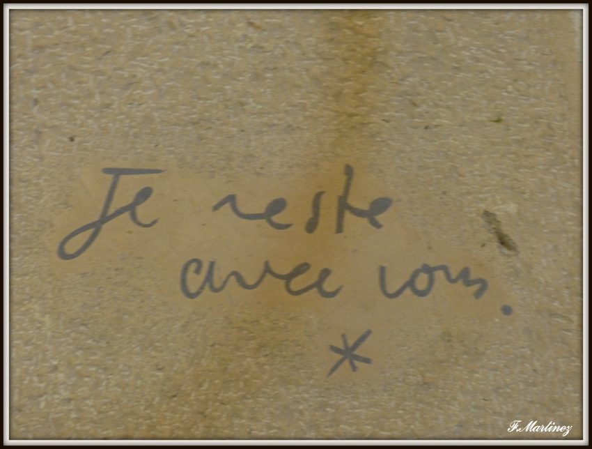 La tombe de Jean Cocteau et Edouard Dermit