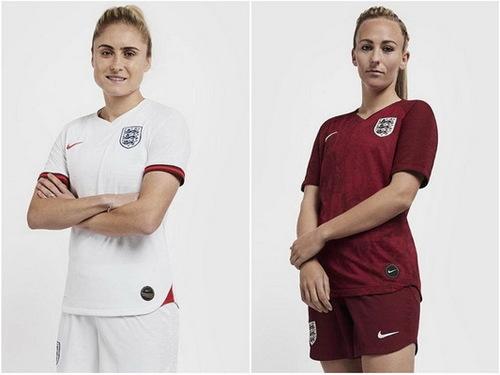 Deux maillot Angleterre Coupe du Monde Féminine 2019
