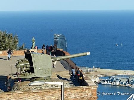 La montagne de  Montjuic et son fort