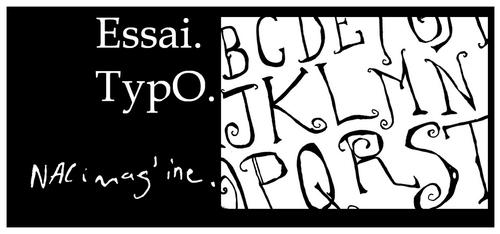 Création d'une typographie pour accompagner mes illustrations...
