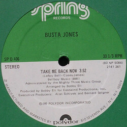 Busta Jones - Take Me Back Now