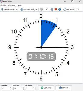 Free Timer : Un minuteur gratuit, complet et léger pour Windows