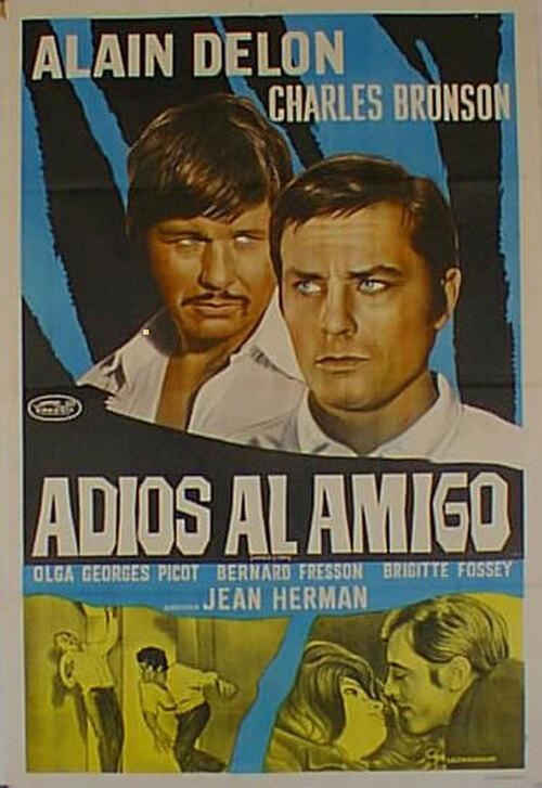 ADIEU L'AMI - ALAIN DELON AFFICHE ARGENTINE