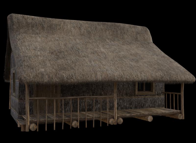 Tube de maison en bois (image-render)