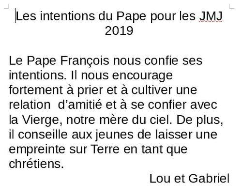 Les JMJ