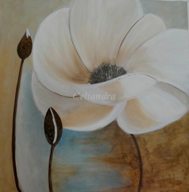 Peintures: Autre fleur blanche