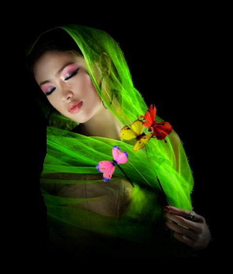 Tubes Femmes élégantes en vert
