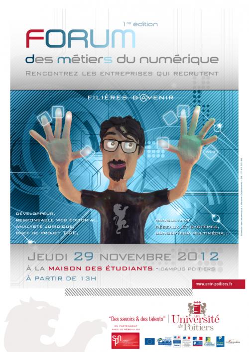 Affiche pour l'université de Poitiers