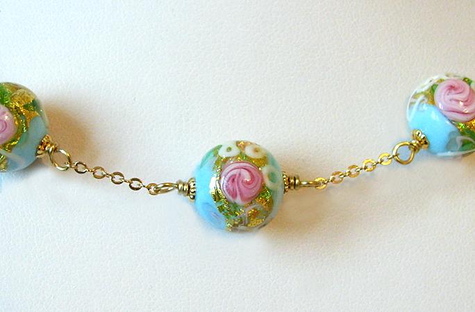 collier perle de verre murano