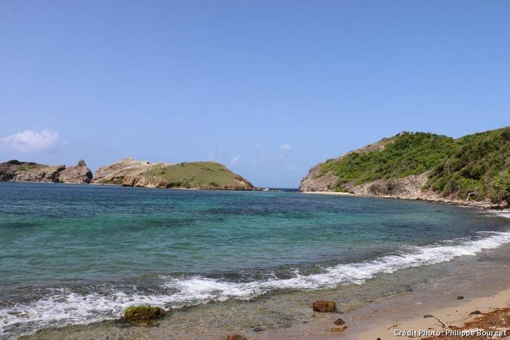 La plage de Pompierre, Les Saintes, en Guadeloupe