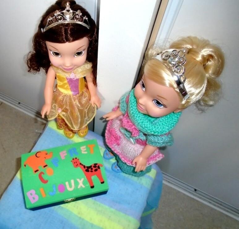 Le coffret à bijoux de Belle et Cendrillon