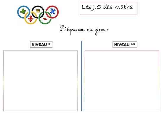 Les J.O des maths