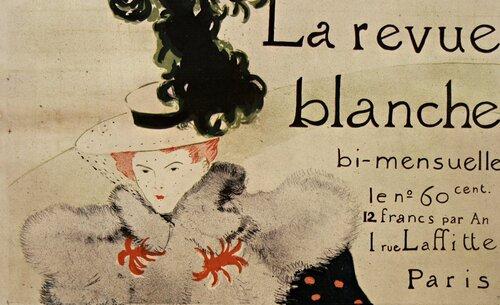 1895 La Revue Blanche, bi-mensuelle  Affiche Toulouse-Lautrec - source : Gallica