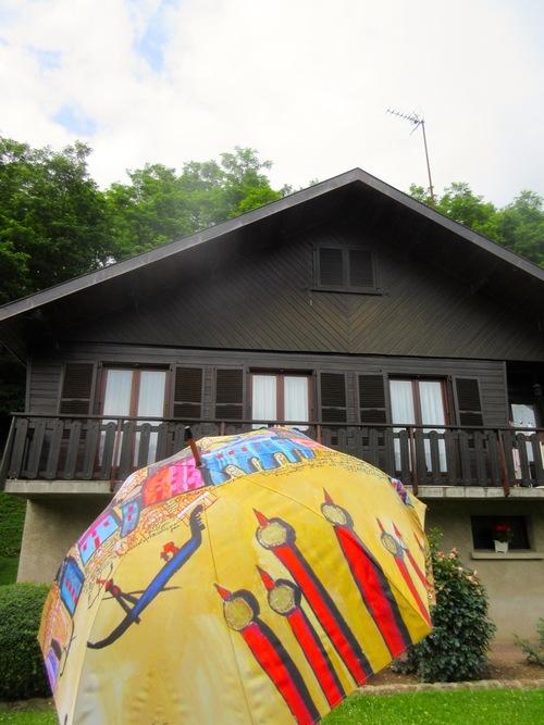 Chalets et ombrelles