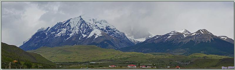Paysage vu depuis le Lac Amarga - Torres del Paine - Patagonie - Chili