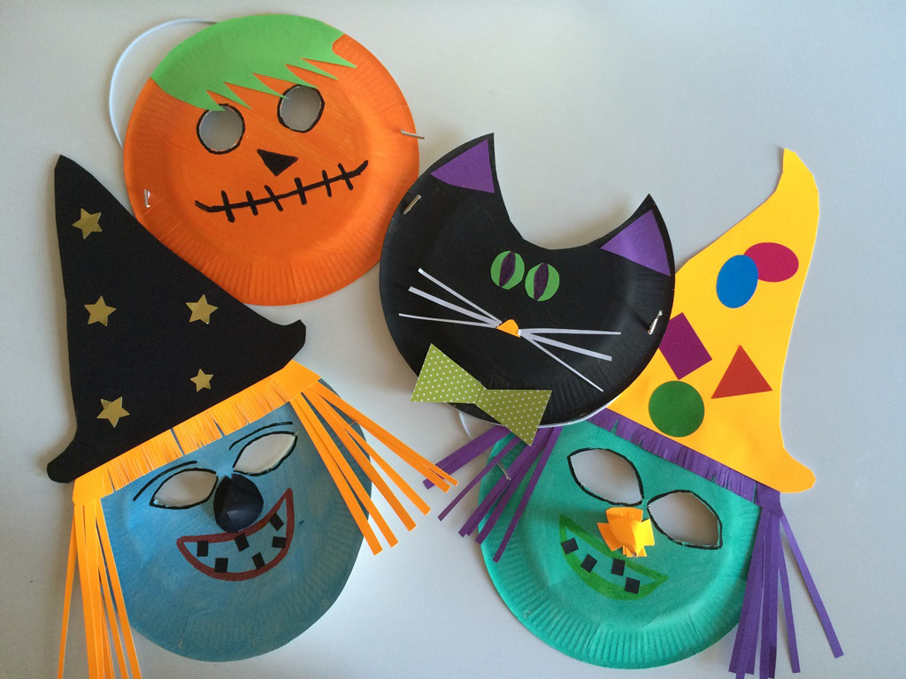 Masques halloween maternelle - Activite manuelle halloween maternelle ...