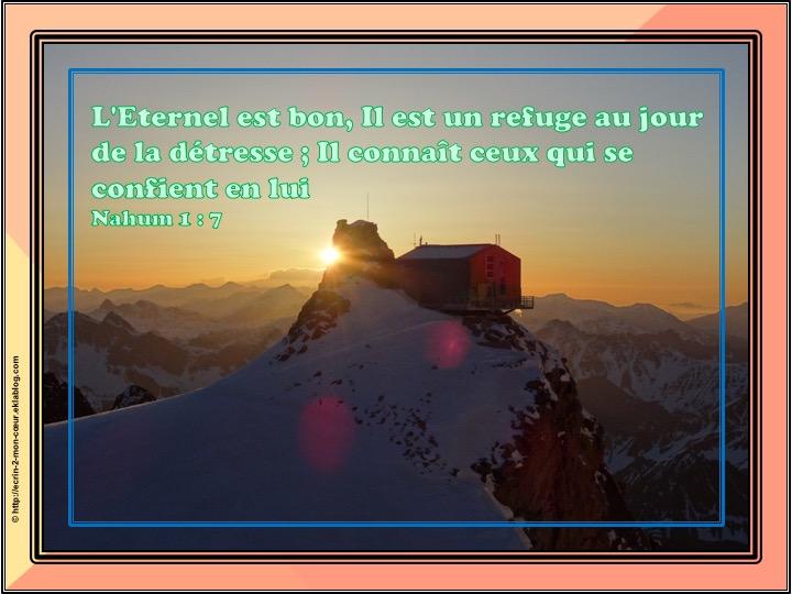 Il est un refuge - Nahum 1 : 7