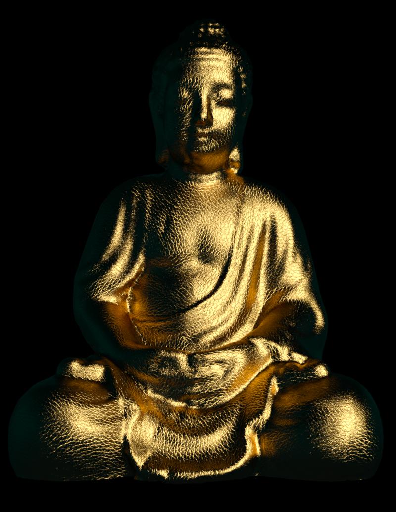 Image de bouddha doré (tube, render)