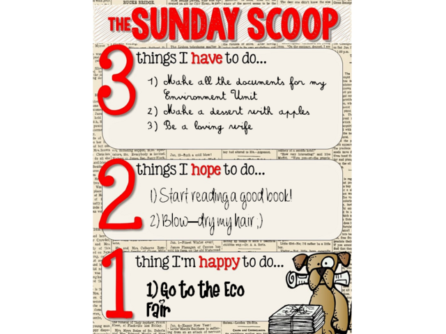 Sunday Scoop Sept.20