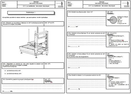 12 004 Exercice ERM vérin hydraulique