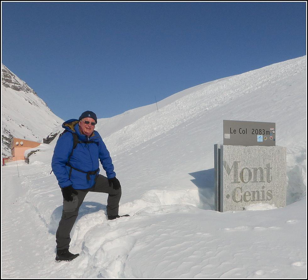 Le col du Mont Cenis en hiver, à pied !