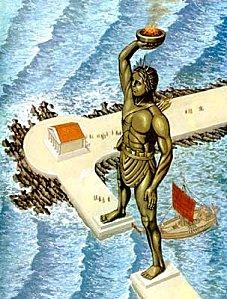 Eléphanphare - Colosse de Rhodes - www.7merveilles.free.fr