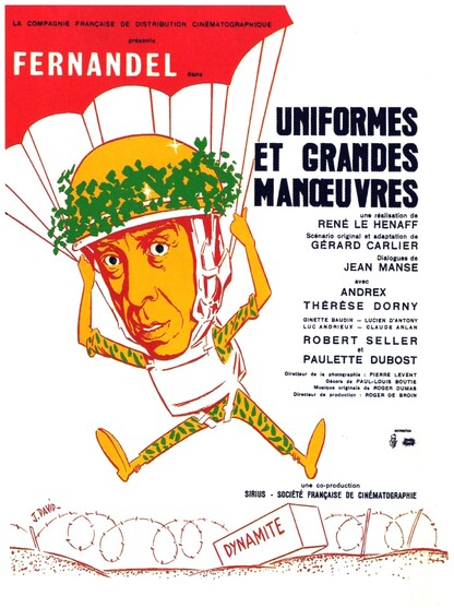 UNIFORMES ET GRANDES MANOEUVRES - BOX OFFICE FERNANDEL 1950