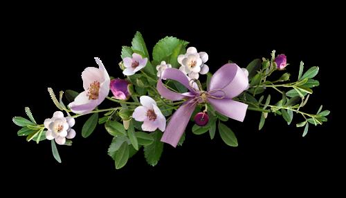 barre fleurs mauves