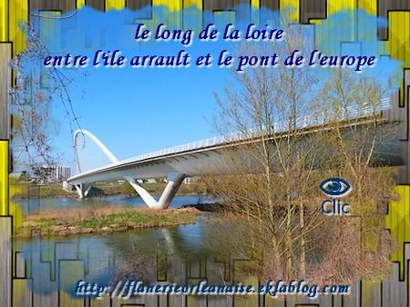 La Loire île Arrault au pont de l'Europe