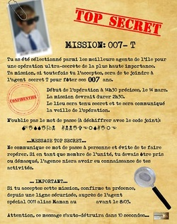 Mission top secrète: organiser un anniversaire agent secret