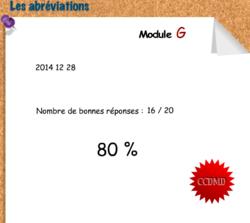 Les abréviations, module G.  (Apprendre en s'amusant)