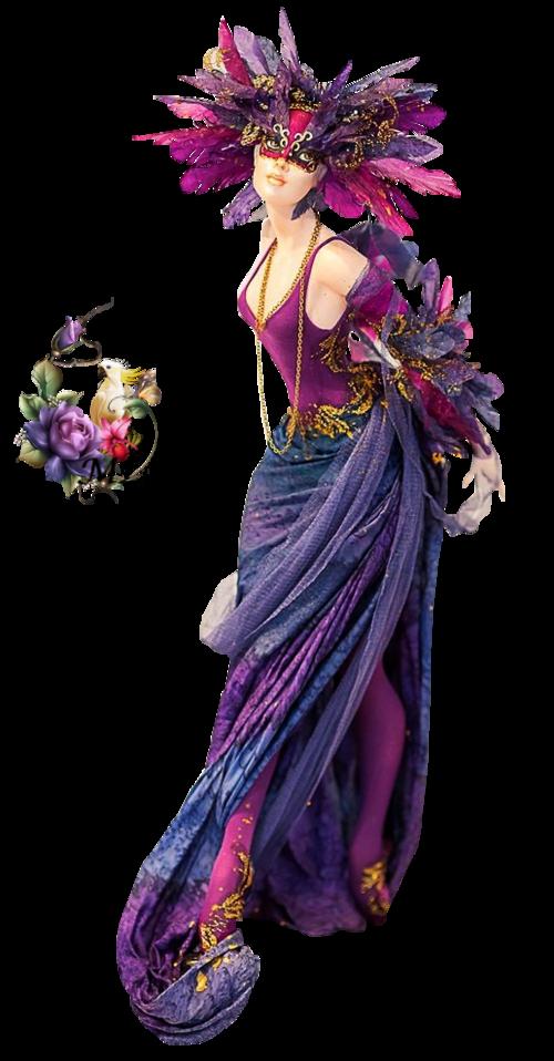 poupée robe mauve rose