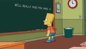 Bart and his teacher