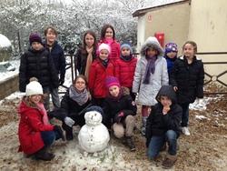 Il neige à l'école Saint Joseph!