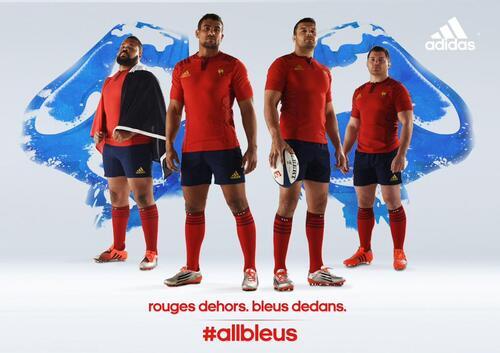 Rugby : le nouveau maillot des Bleus est ... rouge.